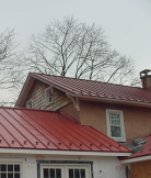 jalco snowguards - red metal roof with snowguards