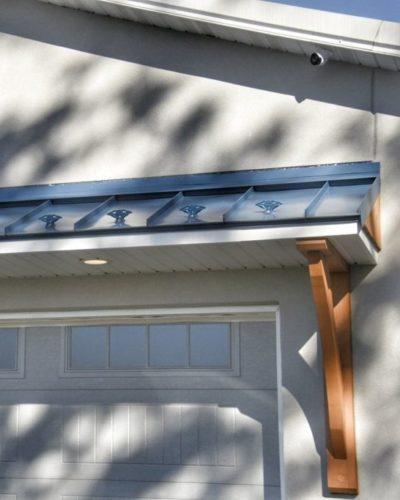 jalco snowguards blue metal roof snowguards - over garage door - 86610550