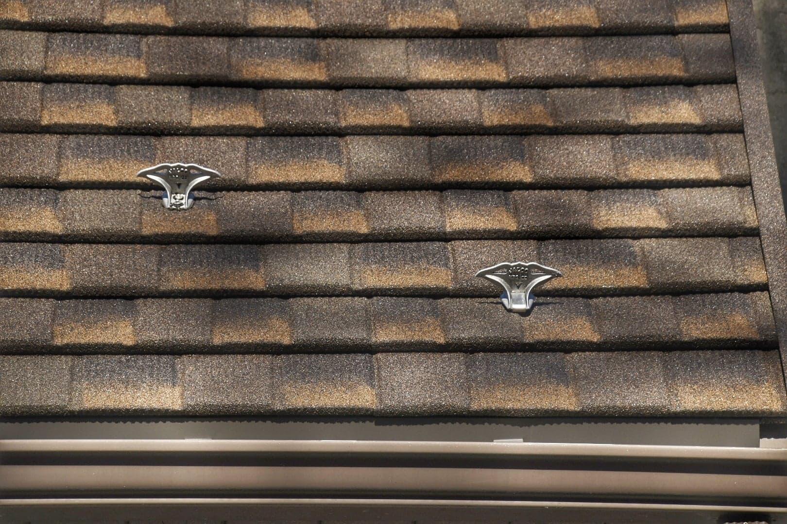 jalco snowguards brown-beige-shingle roof snowguards - closeup - 84269764